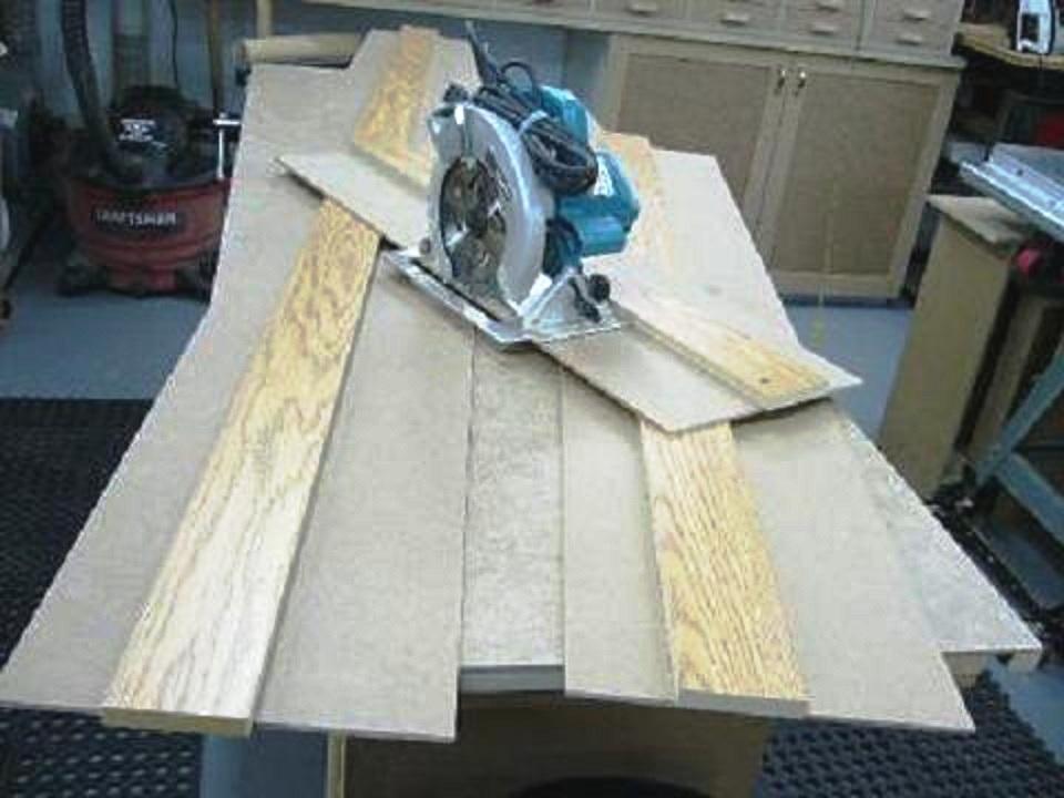 Guide de coupe pour scie circulaire et toupie circular - Fabriquer table scie circulaire ...