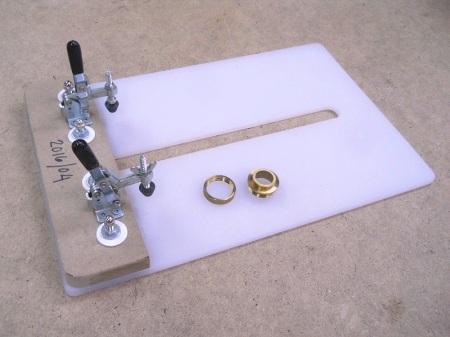 Router Table Guide Bushing Substitute / Substitut pour table à toupie sans guide de gabarit